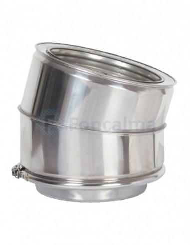 Codo Inox D-P 304 15º - Ø 150/200mm - Practic