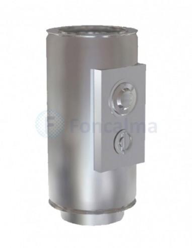 Tubo Control Humos Inox D-P 304 - Ø 80/150mm - Practic