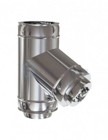 Te Inox D-P 316L-304 60º - Ø 200/500mm - Practic