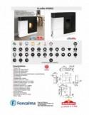 Conjunto Elia inodoro S/horizontal + Tanque doble pulsador A/inferior IZQ.+ Asiento fijo PP