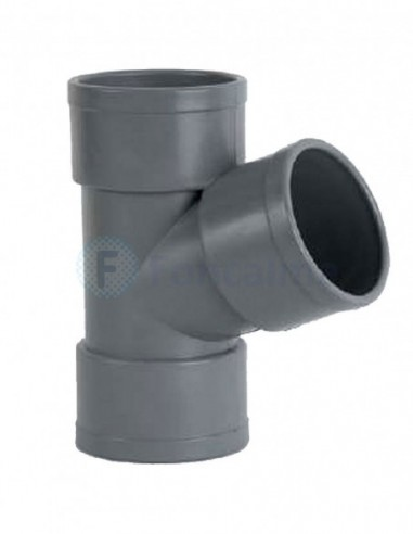 Te PVC HH 67º - 50mm - Ibide